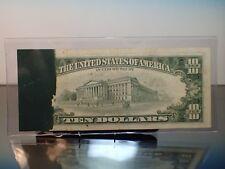 1981 $10 Boston FRN 20% Ink Smear ErRor on Reverse Poker Fullhouse Note