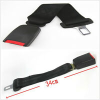 "Auto Click-In Seat Belt Buckle Extender 13"" Black Type A For Car Safety&Comfort"