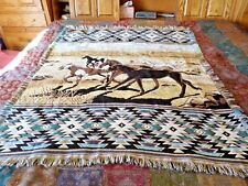 Crown Crafts Horse DesignedThrow Blanket w/Decorative Designed Border