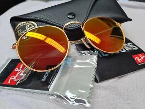 Ray Ban 3447 Round Metal orange goldfarben UNISEX NEU