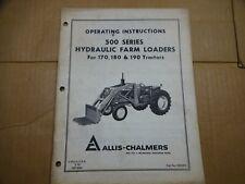 Allis Chalmers 500 Series Farm Loader 170 180 190 Tractor Operators Manual 270
