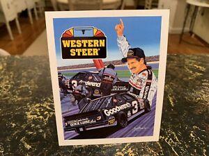 LOT OF 10 1991 DALE EARNHARDT #3 SMALL WESTERN STEER SAM BASS POSTCARD! B/B MINT