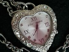 Betsey Johnson HEART Watch NECKLACE - COLLECTIBLE
