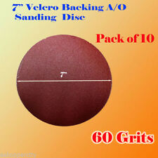 "10x 7"" 60 Grit Sanding Disc Paper Hook and Loop Backing Sander Abrasive Air"