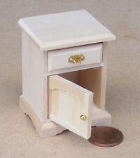 SCALA 1:12 finitura naturale in Legno Comodino Casa delle Bambole Accessorio in miniatura 114