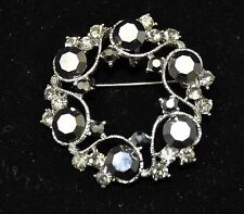 Vintage flower Style Brooches Silver /Hematite color  high-quality Bouquet ST10