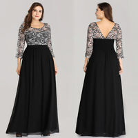 Ever-Pretty Womens Evening Dresses Lace Sleeves Party Dress Long Plus Size 07688