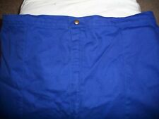 SAFEQUIP SAFETY EQUIPMENT FIRE SUIT RACING PANTS BLUE XX LARGE WITH WHITE CUFFS