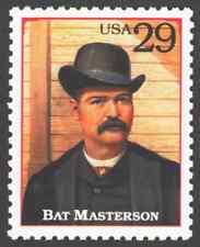 Us. 2869h. 29c. Bat Masterson (1853-1921). Legends of the West. Mnh. 1994