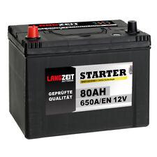 Langzeit Asia Autobatterie 12V 80Ah 650A/EN hohe STARTKRAFT +Pluspol Links 70Ah