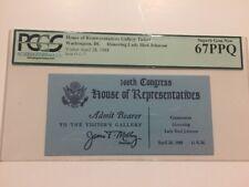 1988 Ceremonies Honoring Lady Bird Johnson House of Representatives Ticket PCGS
