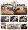3D Animal Horse Duvet Cover Quilt Cover Comforter Cover Pillowcase Bedding Set