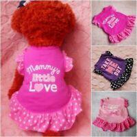 Small Pet Dog Cat Summer Vest Clothes Puppy T Shirt Dress Skirt Apparel Costumes