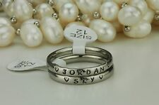 Name Rings -Stainless Steel-Names Engraved ~ 3mm stackable-discounted