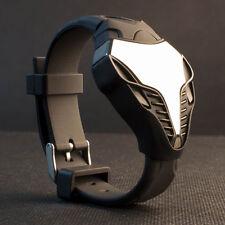 Fashion Men LED Digital Cobra Snake Triangle Dial Silicone Sports Wrist W New