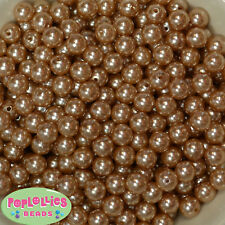 12mm Champagne Acrylic Faux Pearl Bubblegum Beads Lot 40 pc.chunky gumball