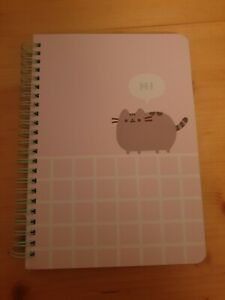 Official Pusheen Sprial Bound A5 Notebook Note Book with Stickers Stationery