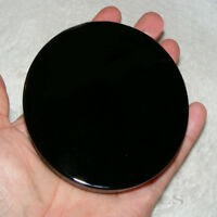 "4"" Black Obsidian Scrying Mirror Crystal 100mm Seconds Gemstone Mineral Specimen"