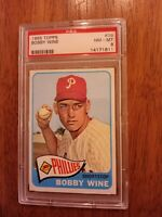 1965 Topps # 36 BOBBY WINE PSA 8 NM-MT PHILLIES Collection Break Tough Card