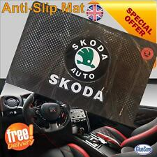 SKODA CAR DASHBOARD NON SLIP GRIP DASH MAT ANTI SLIDE PHONE KEY COINS STICKY