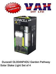 Duracell GL004NP4DU Garden Pathway Solar Stake Light Set of 4