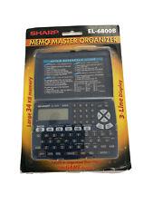 Sharp El-6800B Memo Master electronic Organizer large 34 Kb phone book new