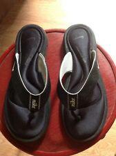 LADIES NIKE COMFORT FOOTBED BLACK FLIP-FLOP - SIZE 9