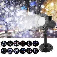 12 Motiven LED Laser Licht Projektor Lichteffekt Strahler Weihnachtsbeleuchtung