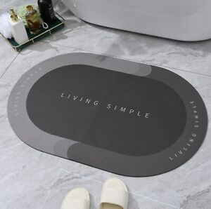 Non Slip Bath Mat Water Absorbent Shower Washable Dry Feet Bathroom Rugs Soft