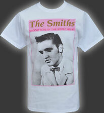 MENS WHITE T-SHIRT THE SMITHS SHOPLIFTERS ELVIS PRESLEY ENGLISH MORRISSEY S-5XL