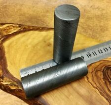 "TITANs 3"" X 25mm Original Damascus Steel Rod Bar Bush Crafts Jewelry Making RD3"