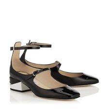 Patent Leather Casual Mary Janes Heels for Women