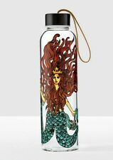 Starbucks Siren Glass Water Bottle with Nylon  Wristlet Strap 17 fl oz NIB
