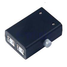 USB Sharing Share Switch Box Hub 2 Ports PC Computer Scanner Printer Manual HM