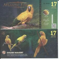 ATLANTIC FOREST BILLETE 17 AVES DOLLARS 2016