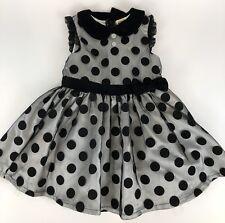 Girl 4T HARAJUKU Mini Target Black Polka Dots Fancy Dress