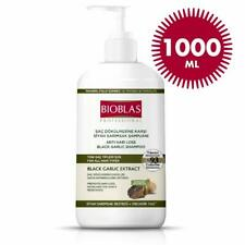 Bioblas Schwarzer Knoblauch Shampoo 1000ml Geruchlos, Frauen Männer Haarausfall