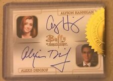 BUFFY - ULTIMATE COLLECTOR'S SET 3 DUAL AUTOGRAPH ALYSON HANNIGAN/ALEXIS DENISOF