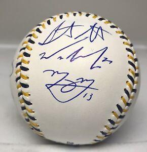 103002 2016 AL All Stars Team Signed Baseball w/ Machado Bogaerts Kluber BAS LOA
