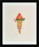 Andy Warhol Ice Cream Dessert Poster Kunstdruck im Alu Rahmen schwarz 36x28cm