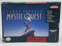 Final Fantasy: Mystic Quest (Super Nintendo) SNES Complete & Tested - Free Ship!