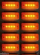 10X 24V ORANGE marquage latéral 4 LED Feu Châssis de remorque camion caravane