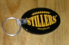 Black Gold Pittsburgh Steelers Stillers NFL Football Logo Rubber Key Ring Chain