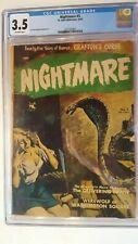 NIGHTMARE # 3 CGC 3.5 ST. JOHN 1952 CLASSIC PRE-CODE PAINTED COVER!