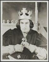 ~ Laurence Olivier as Richard III Original NBC 1950s Promo Photo Shakespeare