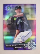 2017 Bowman Chrome Purple Refractor Andrew Moore BCP152 Mariners #164/250