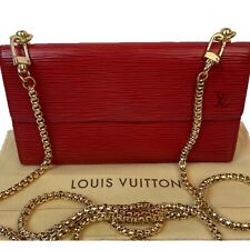 Louis Vuitton Cross Body Red Epi Leather Wallet  ~US SELLER