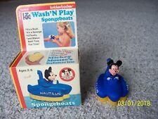 New listing Rare Vtg Knickerbocker Spongeboat Wash' N Play Bath Toy Disney Mickery Mouse Nib