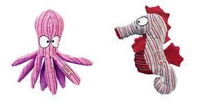 Kong Cuteseas Dog Toys Seahorse Octopus Soft