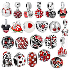 2019 New Year Gift Red Charm Cartoon Silver Beads For Sterling 925 Bracelets Hot